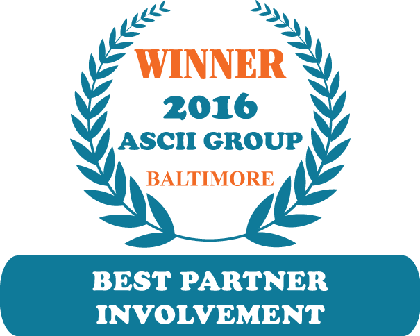 QuoteWerks was honored to be awarded Best Partner Involvement at ASCII Baltimore 2016