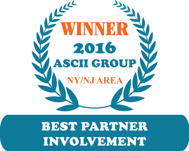 QuoteWerks was honored to be awarded Best Partner Involvement at ASCII NY 2016